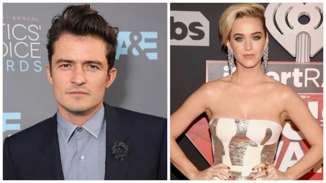 Primo piano di Orlando Bloom e Katy Perry