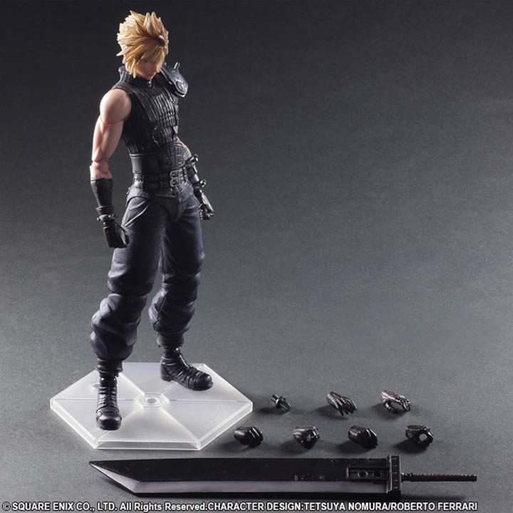 La statuetta di Cloud Strife nella posa base