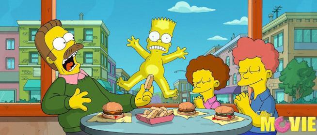 La nudità di Bart Simpson sconvolge il povero Ned Flanders