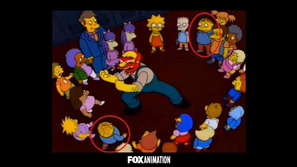 Perché Ralf a volte è nella classe di Lisa e altre in quella di Bart?