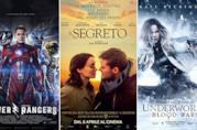 Le locandine dei film Power Rangers, Il Segreto e Underworld: Blood Wars