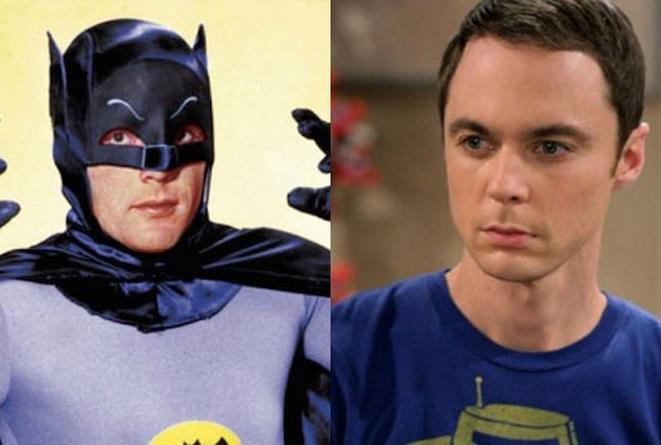 Adam West e Sheldon Cooper
