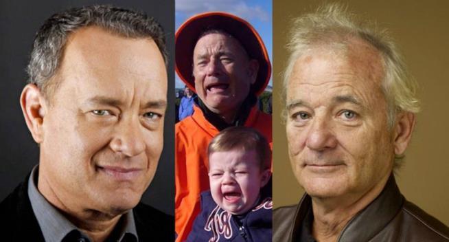 Tom Hanks o Bill Murray: chi è l'uomo nello scatto?