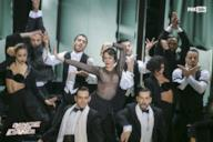Claudia Gerini alias Madonna sul palco di Dance Dance Dance