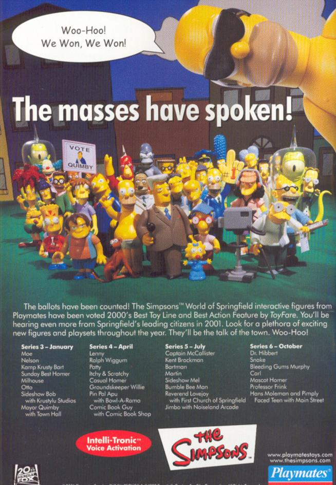 Le action figures Playmates dalla serie I Simpson