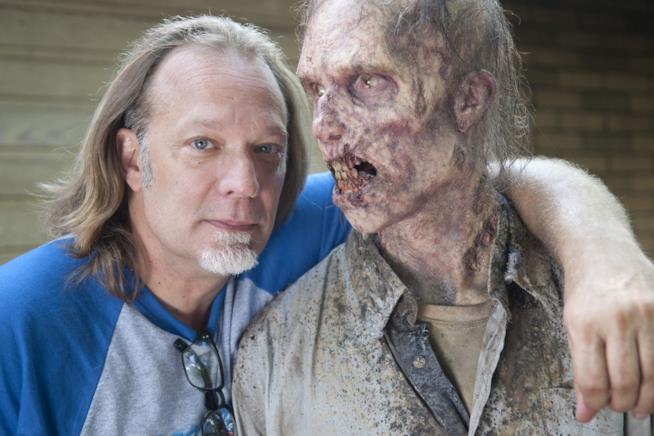 Greg Nicotero, executive producer di The Walking Dead, in uno scatto sul set della serie