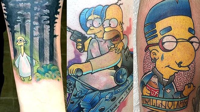 I tatuaggi dei Simpson ispirati a X-Files e Star Wars