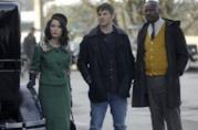 Lucy, Wyatt e Rufus in Nemico pubblico n°1 di Timeless