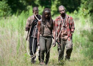 """Michonne e i """"suoi"""" zombie"""