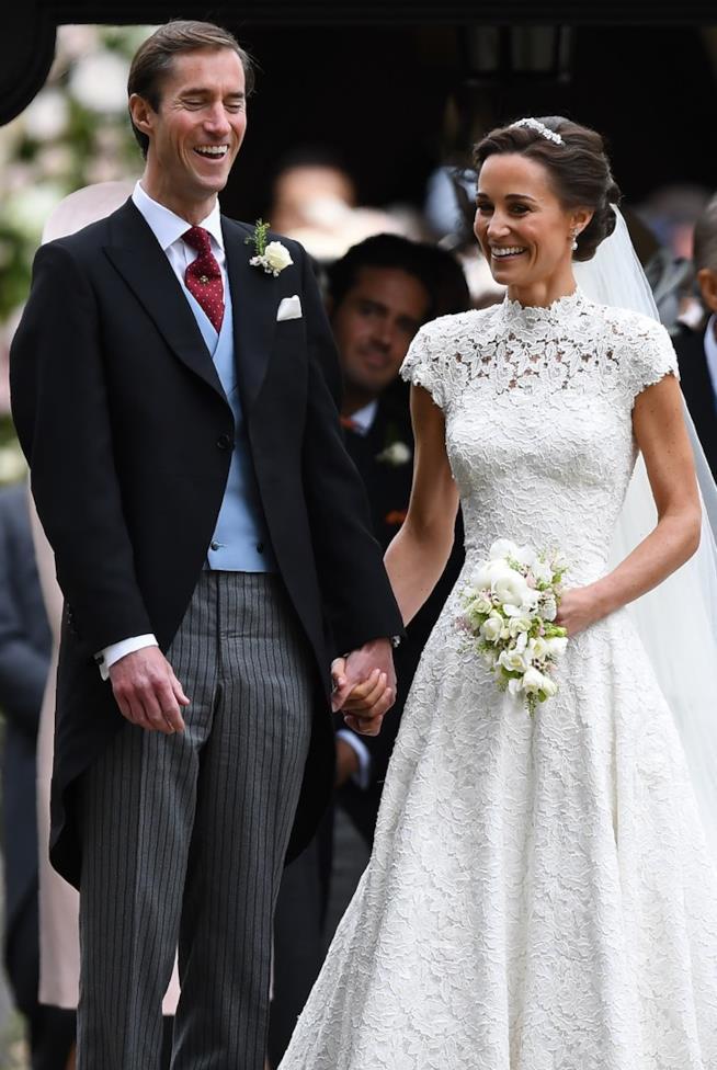 Gli sposi durante il matrimonio