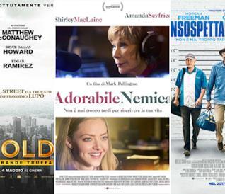 I poster dei film Gold - La Grande Truffa, Adorabile Nemica e Insospettabili Sospetti