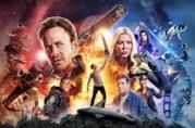 L'intero cast del film ritratto nel poster ufficiale di Sharknado 4