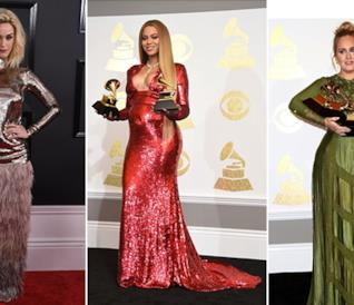 Grammy Awards 2017: i look sul red carpet di Katy Perry, Beyoncé e Adele