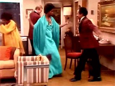 GIF di George Jefferson che balla nei Jefferson