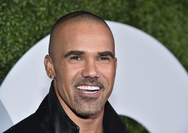 L'attore Shemar Moore, Derek Morgan in Criminal Minds