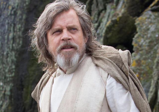 Mark Hamill in una scena di Star Wars VII