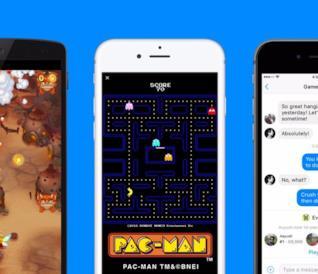 Tre schermi di cellulare con l'app Facebook Messenger