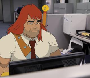 Zorn molto triste in ufficio