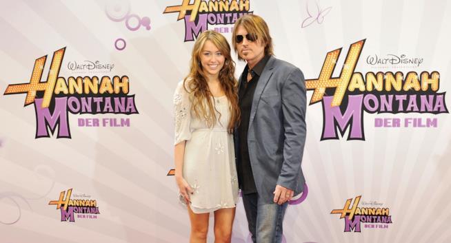 Miley Cyrus e suo padre ai tempi di Hannah Montana