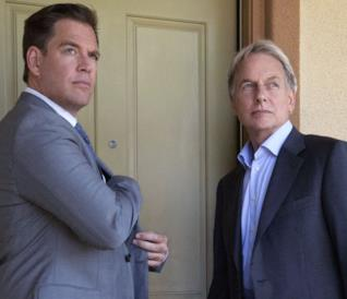Michael Weatherly e Mark Harmon in una  scena di NCIS
