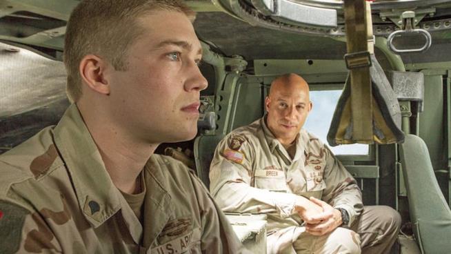 Una scena di Billy Lynn - Un giorno da eroe con Vin Diesel