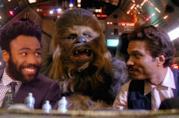 Chewie con il nuovo e vecchio Lando