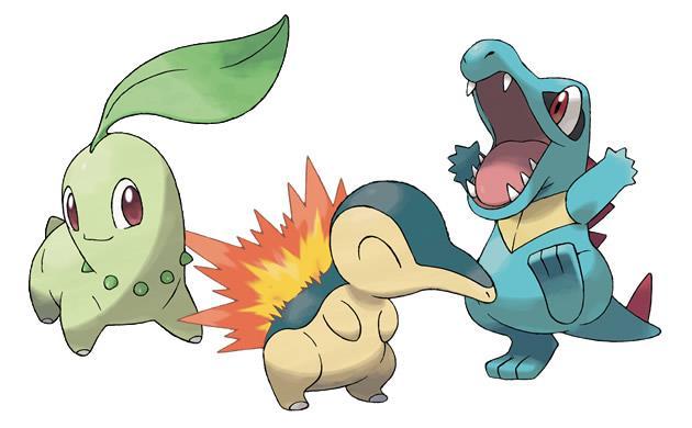 I tre starter di Pokémon Oro e Argento pronti a combattere
