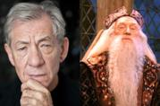 Ian McKellen e Richard Harris nei panni di Silente