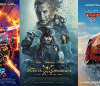 Poster I Guardiani della Galassia, Pirati dei Caraibi 2, Cars 3