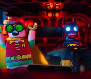 Batman e Robin in una scena di LEGO Batman - Il Film