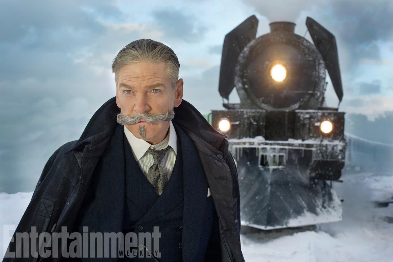 Kenneth Branagh in una scena di Assassinio sull'Orient Express