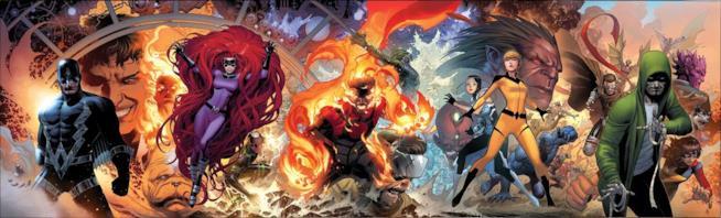 Freccia Nera e gli Inumani così come appaiono nei fumetti Marvel