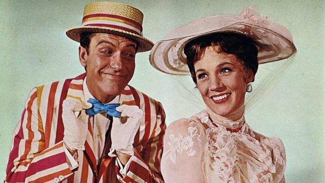 Mary Poppins e Bert in Mary Poppins del 1964