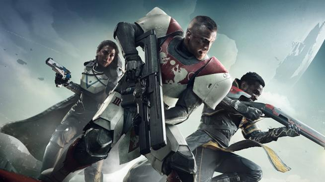 Cacciatore, Titano e Stregone sulla cover ufficiale di Destiny 2