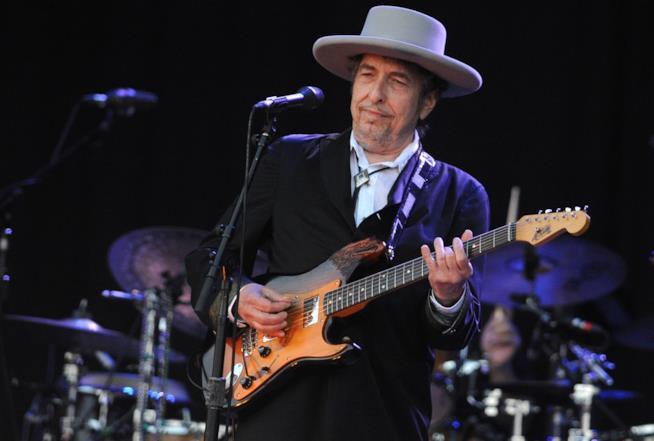 Primo piano di Bob Dylan