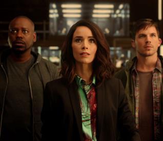 Rufus, Lucy e Wyatt in Timeless