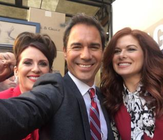 Will & Grace: un'allegra pioggia di selfie dal set del revival!