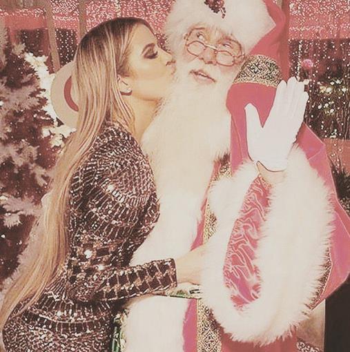 Khloé Kardashian e Babbo Natale