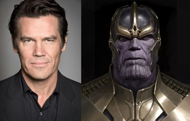 Josh Brolin e il suo personaggio Thanos. Antagonista degli Avengers