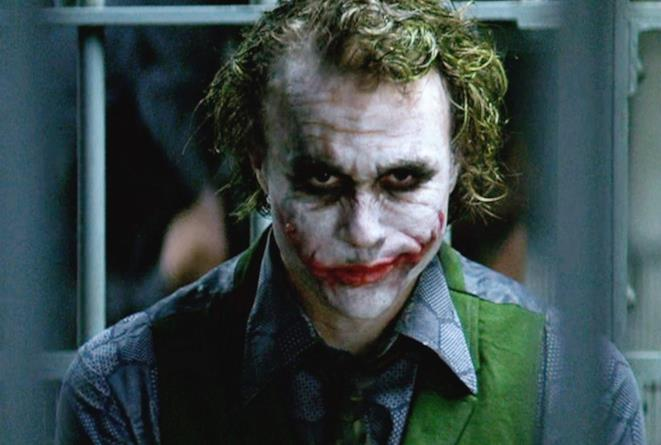 L'attore Heath Ledger nel makeup del Joker