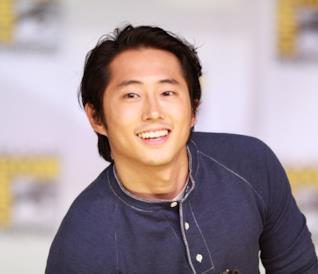 L'attore Steven Yeun di The Walking Dead
