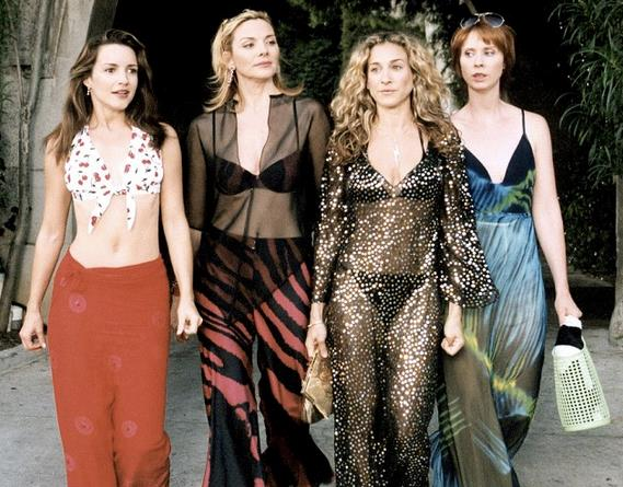 Carrie, Miranda, Samantha e Charlotte in Sex and the city