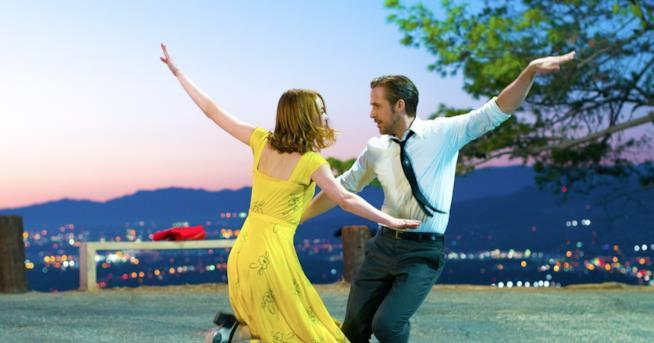 Emma Stone e Ryan Gosling in La La Land