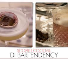 Le immagini dei due cocktail dei bartender bolognesi di Bartendency