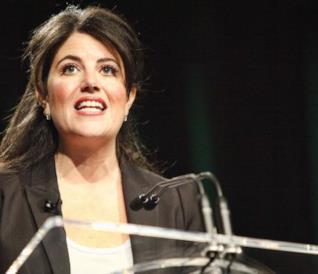 Monica Lewinsky in un primo piano