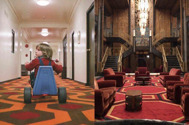L'arredo visto in Hotel ricorda da vicino il famoso hotel di Shining