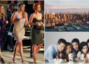 Un collage tra Sex and the City, Friends e lo skyline di New York