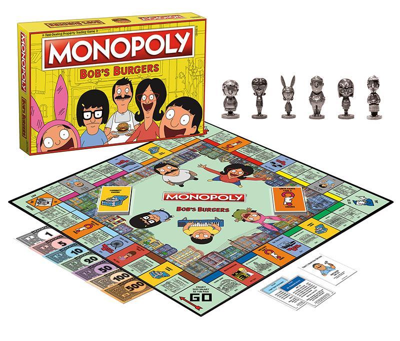 Il Monopoly di Bob's Burgers: tabellone, soldi e pedine