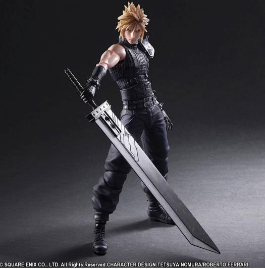Le action figure di Cloud e Barret dal remake di Final Fantasy VII