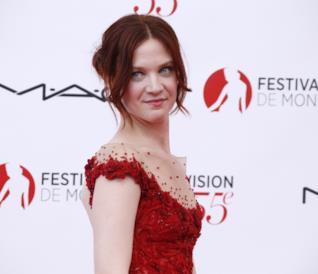 Odile Vuillemin elegantissima al Monaco TV Festival